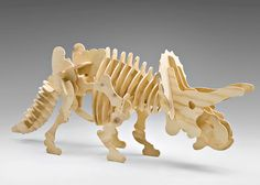 Bag of Bones- Extra Large Triceratops - Large Scale 3-D wooden Dinosaur Puzzle