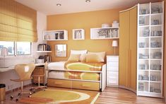 orange-and-white-room