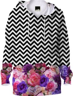 Floral Chevron Hoodie - Available Here: http://printallover.me/collections/sondersky/products/0000000p-floral-chevron-4