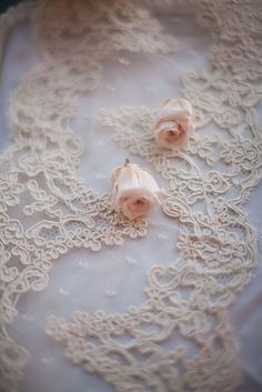 Lace on tulle with pale pink roses Shabby Style, Shabby Chic, Look Vintage, Vintage Lace, Vintage Signs, Organza, Fru Fru, Pearl And Lace, Just Girly Things