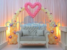 Heart Balloon Arch