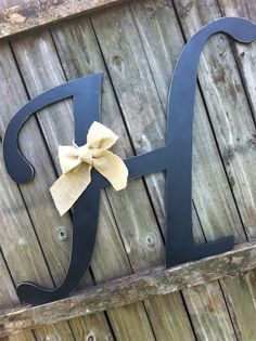 Wood Letter H 2 ft tall Any Letter A - Z Vintage Style Hand Cut Shabby Chic Cottage Signs - Home Decor, Wedding sign