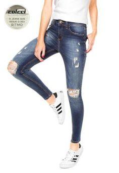 c9c96a18f Calça Jeans Colcci Extreme Bia Poído Azul Colcci Jeans, Calça Feminina,  Comprar Roupas Femininas