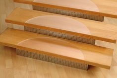 Clear Polycarbonate Stair Tread Protectors These transparent stair tread protectors protect your stairs from scratches and scuffs while protecting you from slipping. Clear with a raised anti-slip texture and a soft shine, these semi-circular stair treads have a subtle but unmistakably modern look to them. Without sacrificing the elegant look of a wooden staircase, clear stair treads provide all of the comfort and protection you need. Available in two sizes. Please select the size of your…