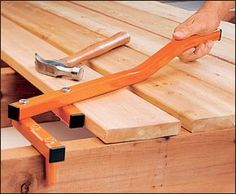 BoWrench® Deck Tool - Woodworking not bad idea for curved boards but for 60 bucks I could make one better