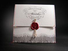 Stitching, yarn and a wax seal. Nice combo!