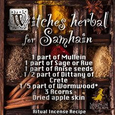 Magical Recipies Online | Witches Herbal for Samhain