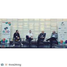 #Repost @think2thing with @repostapp.  This morning's speakers Michael Carter Craig Barr Athomas Goldberg and Andrew Nelson sit down for a panel discussion. Such a great meeting of the minds here at #Be3D!  #Be3D #think2thing #design #conference #3dprinting #3dtech #art #architecture #manufacturing #toronto #academicsession #ryersonu #innovation #thoughtleaders #digitalstorytelling #3dgraphics @polymorphic3d by polymorphic3d