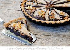 Crostata con noci cioccolato e pere ricetta dolce vickyart arte in cucina