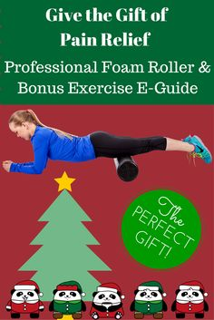 """This Christmas, give the gift of living pain-free.  Check out this professional foam roller with our FREE E-GUIDE from Amazon, """"Get Rid of the Pain with Foam Rolling!""""   We cover exercises for lower back pain, shoulder pain, neck pain, shin pain, IT band, hamstrings, quads, calves, glutes, abs, chest, and some great foam rolling tips!  http://www.amazon.com/dp/B00TBNWFOQ"""
