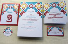 New Full Set: Mexican Wedding Reception Stationery