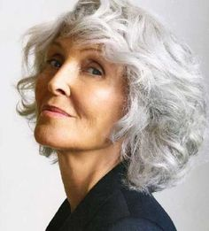 30 Nice Short Haircuts For Women Over 50 - 25 Grey Hair Over 50, Hair Cuts For Over 50, Short Hair Cuts For Women, Hairstyles Over 50, Older Women Hairstyles, Bob Hairstyles, Grey Curly Hair, Short Grey Hair, Gray Hair