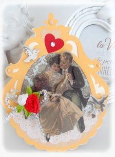 Carte St Valentin Vintage les Amoureux : Cartes par les-extravagances-de-bella
