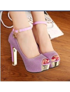 798ba8aa75695f 2014 Brand New Women Pumps Peep Toe Thick Buckle High Heels Platform Sexy  Lady Sweet Pink Silver Shoes Casual Sandals 8