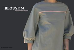 """Blouse M. by MyDress-Made Wish to create a """" chic and timeless """" blouse , opt for """"Mathilde"""" by Tilly model and the Buttons (thus it's a speciale dedication M ;)) . This is a perfect creation basis which it has two benefits : the pleats in the front and sleeves slightly gathered . Also this pattern provides buttons on the back , a nice alternative to learn about the buttonhole without much difficulty and the opportunity to deliver a twist if you have funny pimples in stock."""