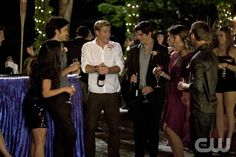 """Vegas, Maybe?""--LtoR: Shenae Grimes as Annie Wilson, Michael Steger as Navid Shirazi, Trevor Donovan as Teddy, Ryan Rottman as Shane, Jessica Stroup as Erin Silver, and Matt Lanter as Liam Court on 90210 on The CW. Photo: Michael Desmond/The CW ©2011 The CW Network. All Rights Reserved."