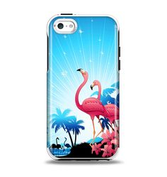 The Vibrant Pelican Scenery Apple iPhone 5c Otterbox Symmetry Case Skin Set