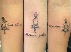 New tattoo sister for 2 sibling 34 Ideas Bff Tattoos, 3 Sister Tattoos, Siblings Tattoo For 3, Sister Tattoo Designs, Sibling Tattoos, Matching Sister Tattoos, Neue Tattoos, Family Tattoos, Tattoos For Daughters