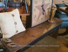 100 years old barn wood makes a great bench. #restylechicago #reluxvintage #resaleshop #resale #barnwood https://www.instagram.com/p/BQRFec8BT36/