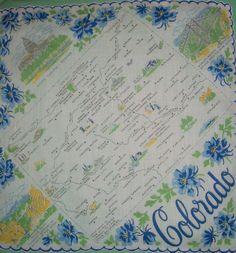 Vintage new mexico handkerchief