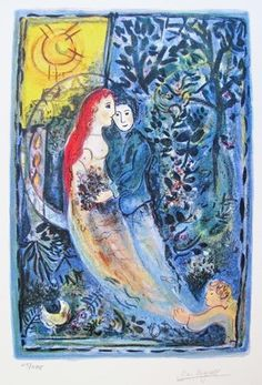 MARC CHAGALL WEDDING LIMITED ED. SMALL GICLÉE : Lot 145T