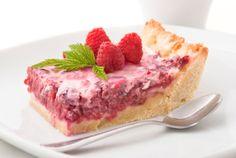 Dulce tarta cremosa de frambuesas- el gran chef