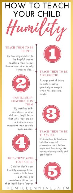Learn How To Teach Your Child Humility in 5 simple steps Positive Parenting Raising Great Children Parenting Advice Gentle Parenting, Kids And Parenting, Parenting Hacks, Parenting Classes, Parenting Quotes, Peaceful Parenting, Parenting Styles, Foster Parenting, Parenting Plan