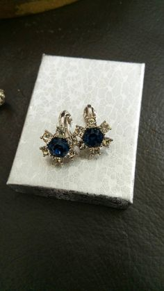 Check out this item in my Etsy shop https://www.etsy.com/it/listing/252438789/ciner-earrings-clip-swarovski-sapphires