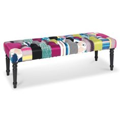 Zitbank Ava, multicolour, L 120 cm Tufted Bench, Home Living, Deco, Furniture, Ava, Catering, Tables, Chairs, Scrappy Quilts