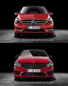 Mercedes-Benz B-Class - Front view design comparison