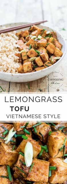 choosingchia.com | 15-minute Lemongrass Tofu inspired in my trip to Vietnam. Protein packed, it makes an exquisite dinner meal or lunch #vegan #asianinspired