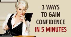 Three ways togain confidence inyourself from aHarvard…