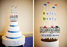 Disneyland Flags Wedding Cake #disney