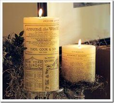 PB newsprint candles
