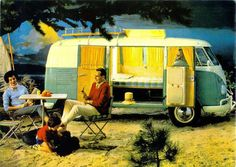 VW Camping looks like fun Classic Campers, Vw Classic, Station Wagon, American Canyon, Vw Camping, Bus Interior, Volkswagen Bus, Vw T1, Cool Campers