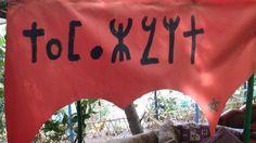 "Das Wort ""Tamazight"" im Tifinagh-Alphabet (Bedeutung: Dialekt, den die Berber in Zentralmarokko sprechen) Berber, Marrakech, Abs, Neon Signs, Morocco, Culture, Abdominal Muscles, Ab Workouts, Ab Exercises"