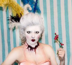 zombie Marie Antoinette (self-portrait) hair & makeup by Nefertara