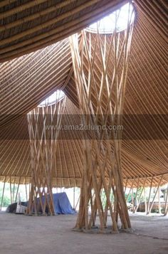Bamboo spiral base by amaZulu, Inc. See more creative projects where amaZulu products were specified.