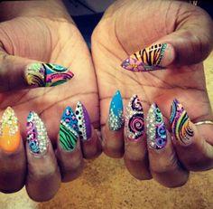 gorgeous ghetto nails. wild
