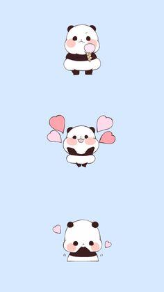 It's about cute panda! Panda Wallpaper Iphone, Cute Panda Wallpaper, Bear Wallpaper, Emoji Wallpaper, Cute Disney Wallpaper, Kawaii Wallpaper, Wallpaper Desktop, Girl Wallpaper, We Bare Bears Wallpapers