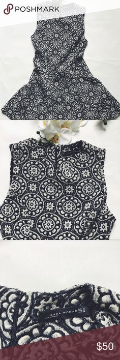 Perfect Fitted ZARA dress Ethnic motifs & great fabric. Skirts have lots of fabric similar to a tent skirt. Feels & looks great! Zara Dresses