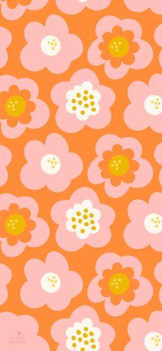 Retro Floral Wallpaper