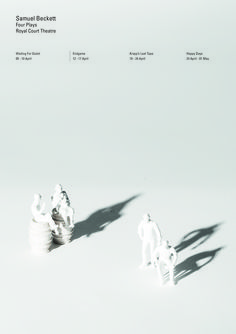 Endgame! A series of four theatrical posters to announce a short season of Samuel Beckett plays at the Royal Court Theatre.