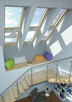Janelas de Sotão... Escadas. Traga luz para a sua casa!