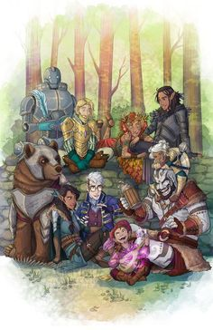 Print of Vox Machina from Critical Role! Printed on archival matte paper. Dungeons And Dragons Characters, D&d Dungeons And Dragons, Fantasy Characters, Dnd Characters, Critical Role Characters, Critical Role Fan Art, Character Inspiration, Character Art, Character Design