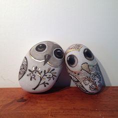 Painted OWL rocks. Cute!