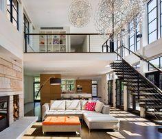 Dutchess County House by Studio Marchetti. ¿Cómo trabajar #DoblesAlturas en tu #vivienda? #ArquiConstrucciónAlDía