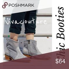 Coming Soon Distressed Grey Ankle Booties fringe Comment for details and ordering . Nwt Vivacouture Shoes Ankle Boots & Booties