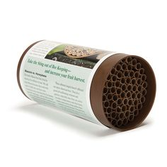 Attract super pollinator Mason bees to your yard with this Mason Bee Nest Kit.