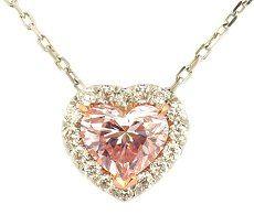 0.81ct Light Pink Heart Shape Diamond Pendant